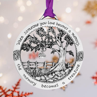 """When Someone You Love Becomes a Memory"" - Merry Christmas Memorial Ornament"