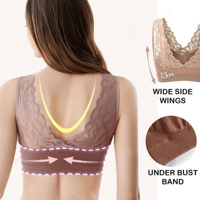 Breathable Sports Push Up Lace Bra
