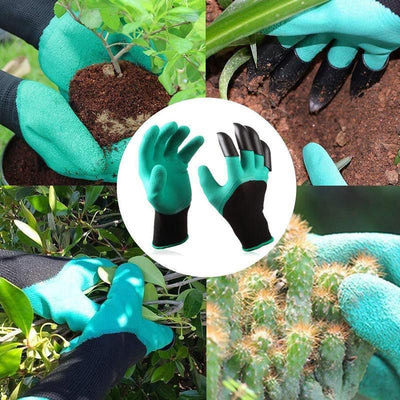 Garden Genie Gloves with Claws on Right Hand