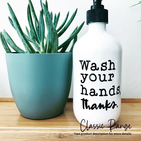 Reusable/Refillable Hand Wash P.E.T Bottle - Sassy & Arbee