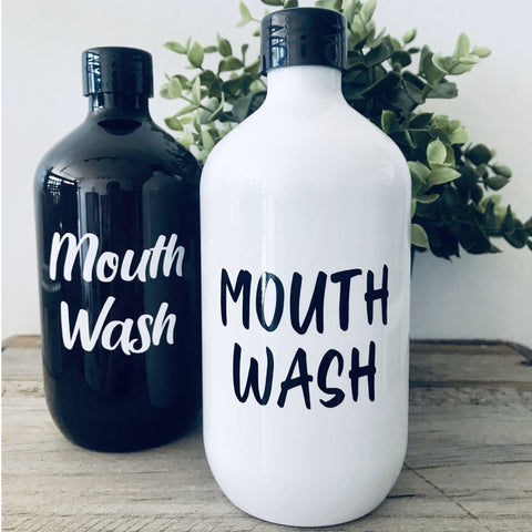 Mouthwash Bottle - Sassy & Arbee