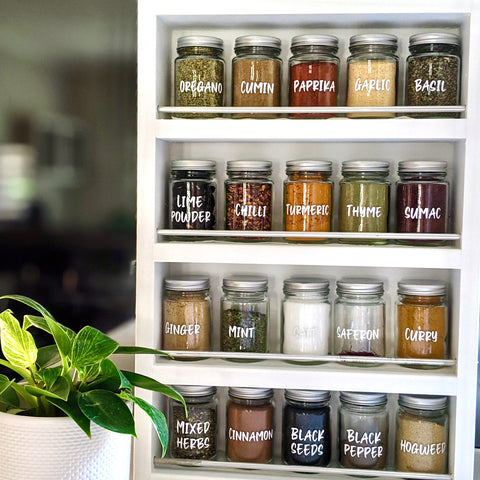 Spice Jars with Custom Labels