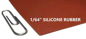 "1/64"" SILICONE RUBBER SHEET - The Rubber Sheet Roll Store"
