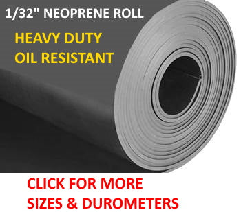 Roll of neoprene rubber 1/32