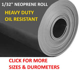 Roll of neoprene rubber 1/32""