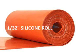 "1/32""  SILICONE RUBBER ROLL - The Rubber Sheet Roll Store"