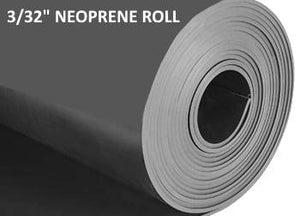 "Roll of neoprene rubber 3/32"" inch thick."