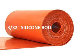 "3/32""  SILICONE RUBBER ROLL - The Rubber Sheet Roll Store"