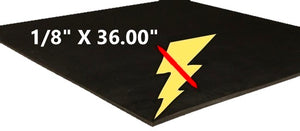 "1/8"" X THICK X 36.00"" WIDE CONDUCTIVE RUBBER SHEET"
