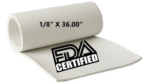 "1/8"" THICK X 36.00"" WIDE FDA NEOPRENE"
