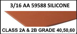 "3/16"" AA 59588 SILICONE RUBBER SHEET - The Rubber Sheet Roll Store"