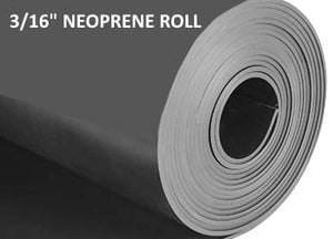 "3/16"" THICK NEOPRENE RUBBER ROLL"