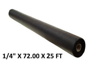 "1/4"" X 72.00"" (6 FT) X 25 FT - The Rubber Sheet Roll Store"
