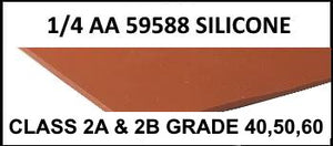 "1/4"" AA 59588 SILICONE RUBBER SHEET"