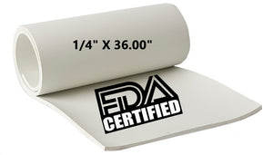 "1/4"" THICK X 36.00"" WIDE FDA NEOPRENE"