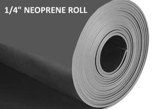 "1/4""  THICK NEOPRENE RUBBER ROLL"