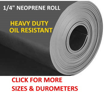 Roll of durable & flexible neoprene rubber 1/4