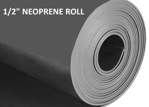 "1/2"" THICK NEOPRENE RUBBER ROLL"