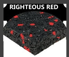 RIGHTEOUS RED RUBBER SPORT FLOORING