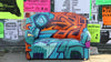 Old Sofa Solution: Spray Your Old Sofa Like a Graffiti Artist