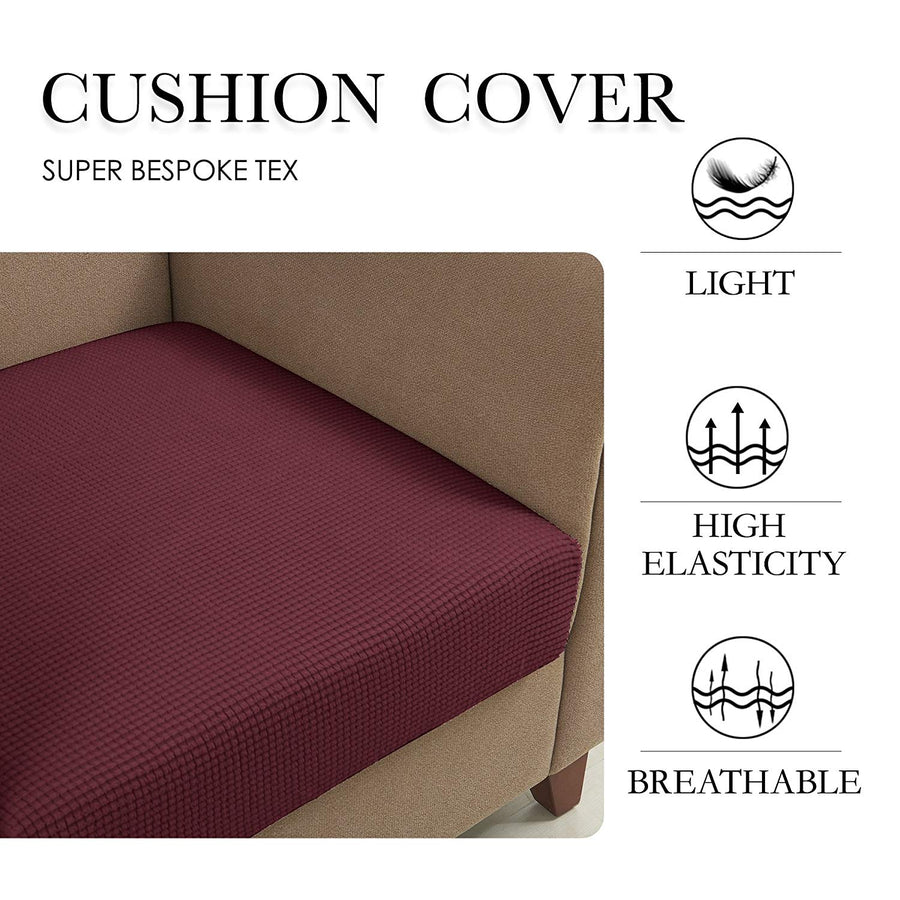 Subrtex Plaid Stretch Sofa Cushion Cover