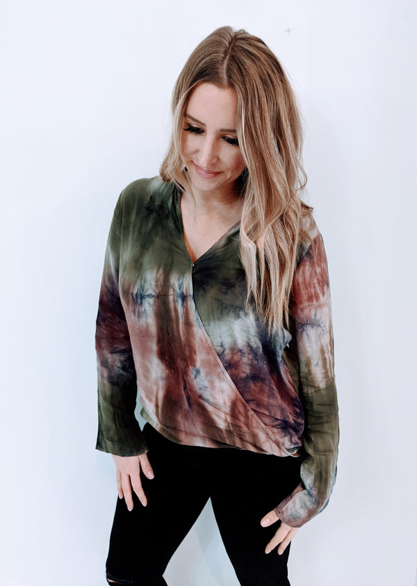 Casual Tie Dye Babe Top