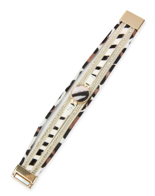 Wild Thing Wrap Bracelet- White