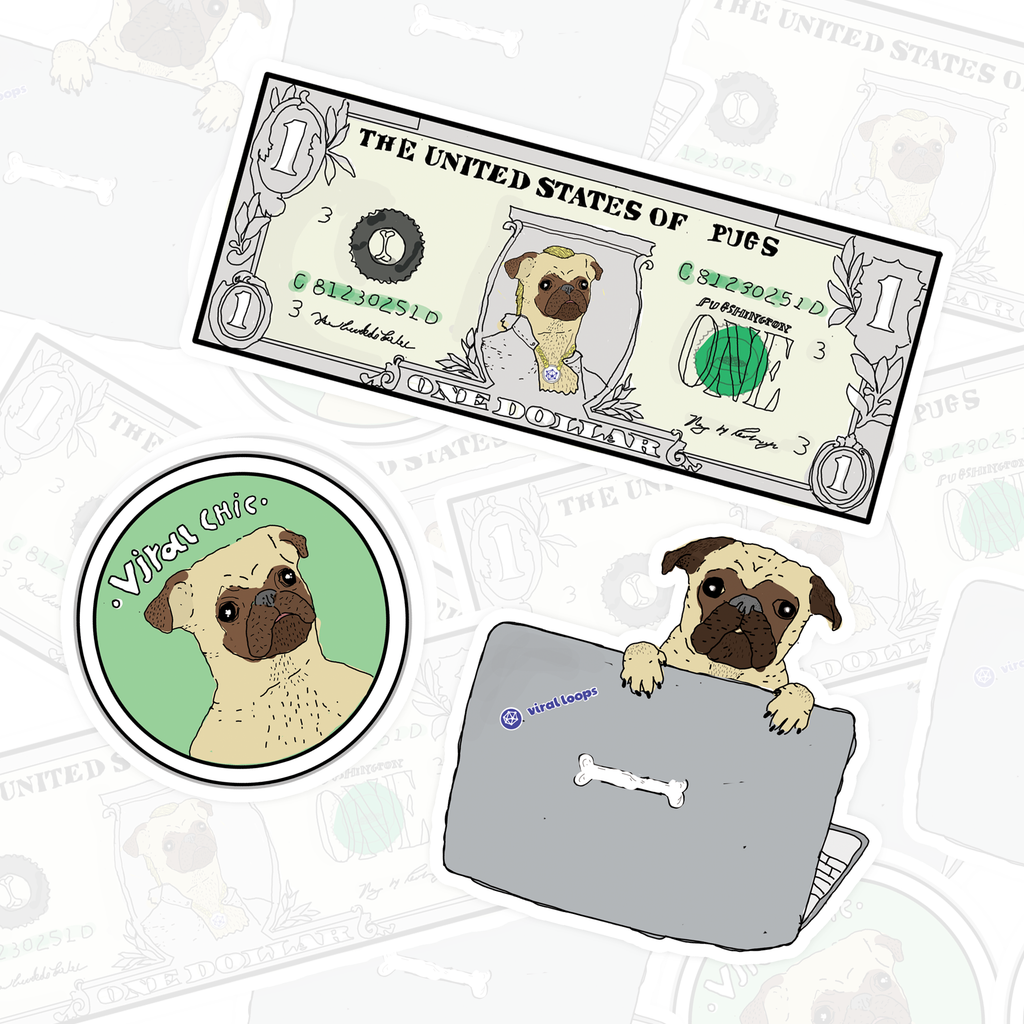 Puggy Stickers