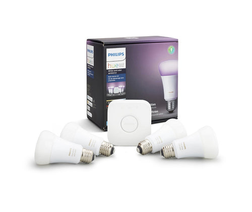 PHILIPS Hue White Smart Bulb Starter Kit E26