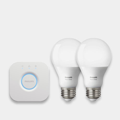 PHILIPS Hue White Smart Bulb Starter Kit - E27