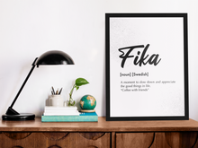 Load image into Gallery viewer, Fika Finnish A4 & A3 Framed & Unframed Posters