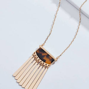 Gold Bar Tortoise Necklace