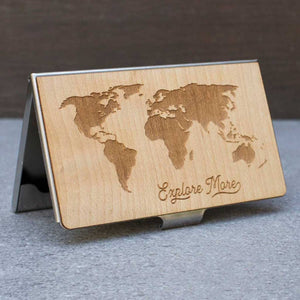 World Map Card Case