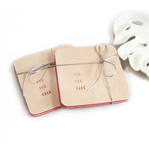 Embossed Leather Drink Coaster Set