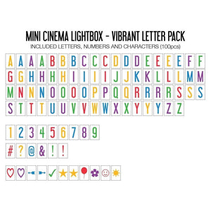 Mini Cinema Lightbox with Color Letters