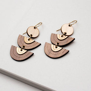 Wood Horizon Earrings