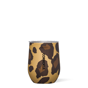 Corkcicle Luxe Leopard Stemless Wine Cup
