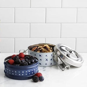 Patterned Tiffin Tin, 2 Stack