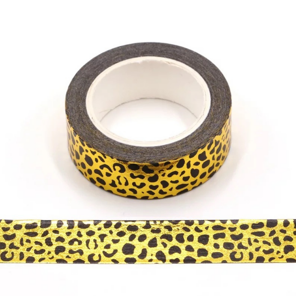 Gold Foiled Leopard Washi Tape