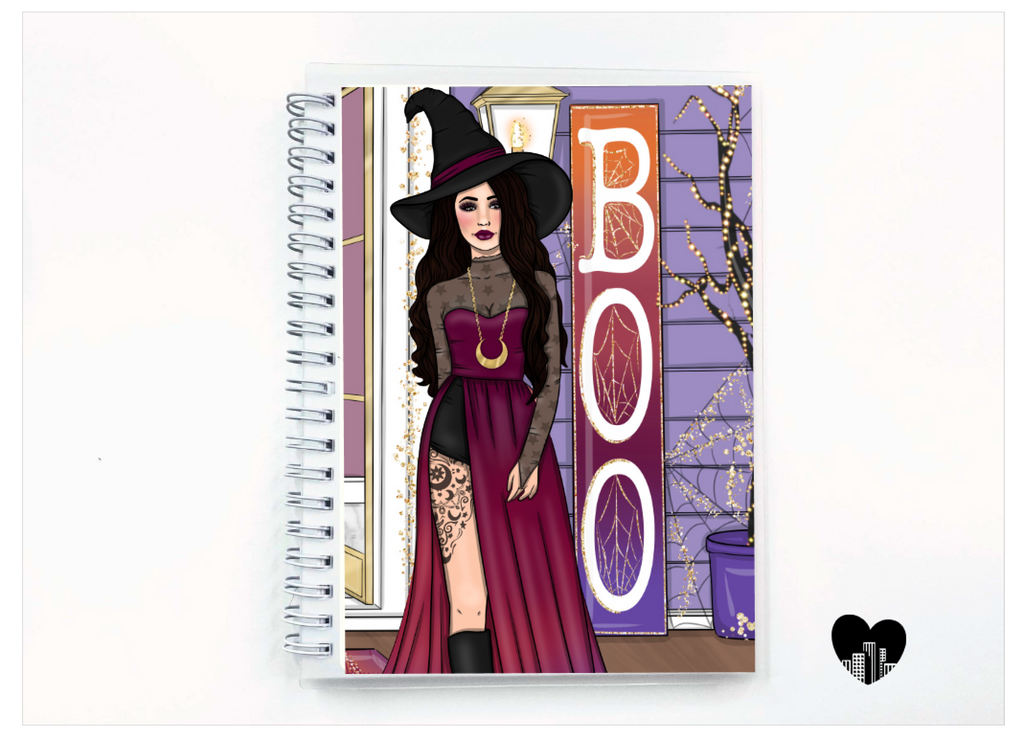 Midnight Witch Reusable Sticker Book