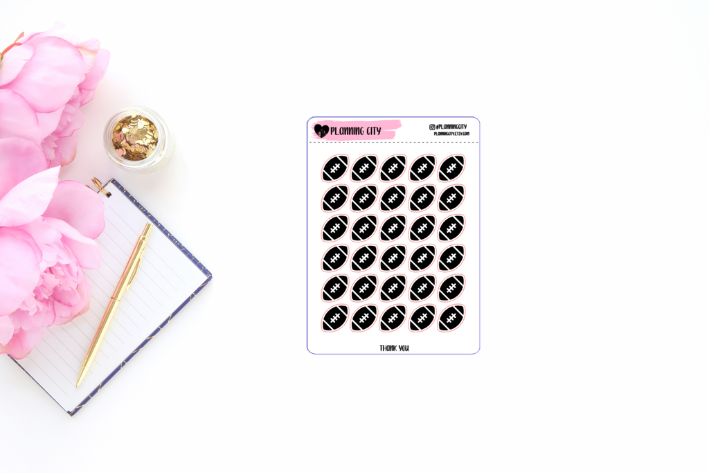 Football Foiled Icon Planner Stickers