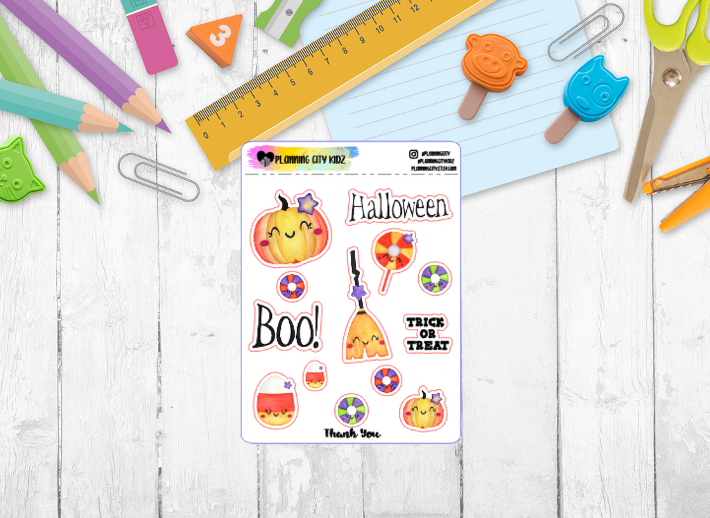 Happy Halloween Kidz Planner Stickers
