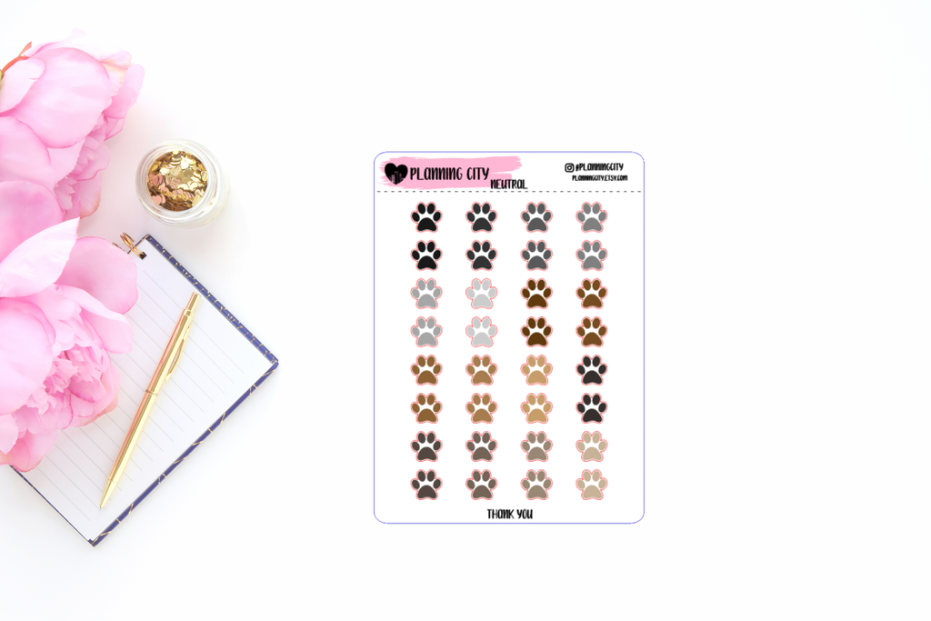 Paw Print Functional Stickers