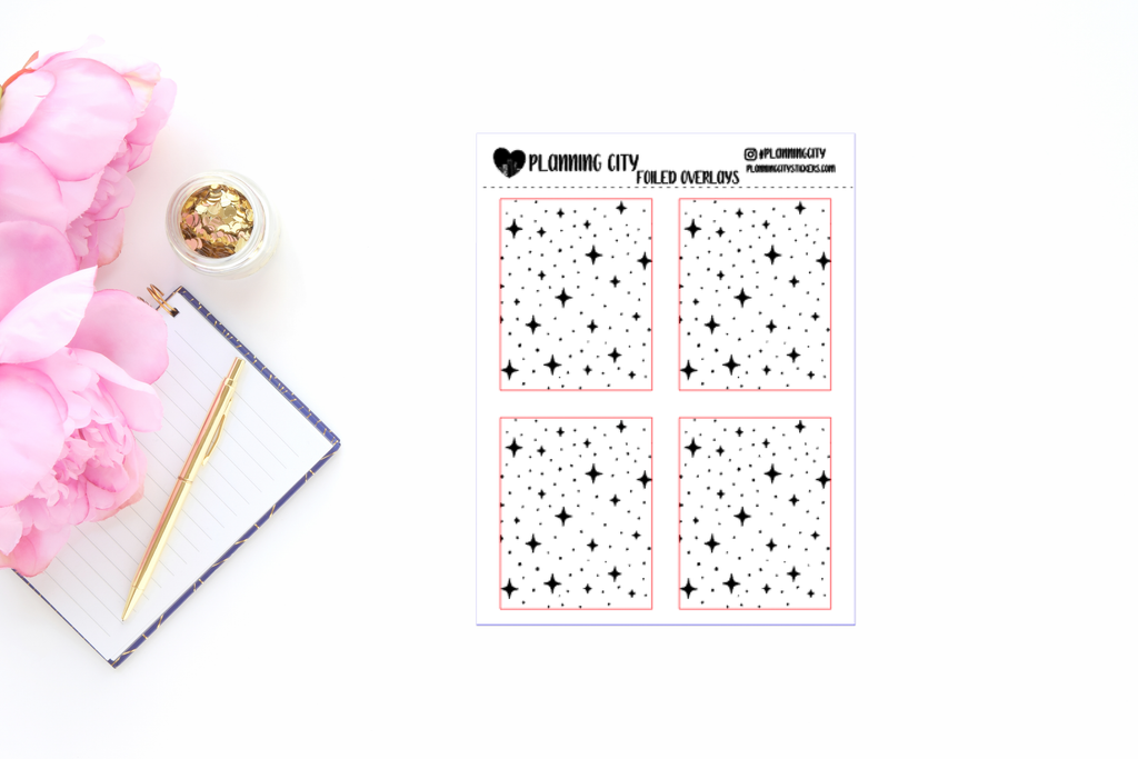 Twinkle Foiled Overlay Planner Stickers