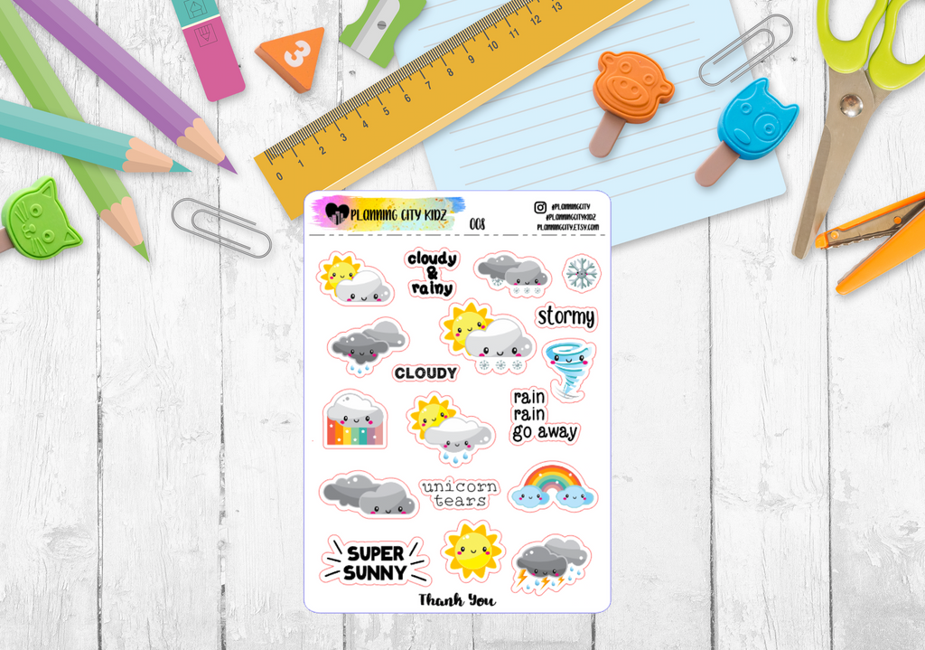 Weather Kidz Planner Stickers