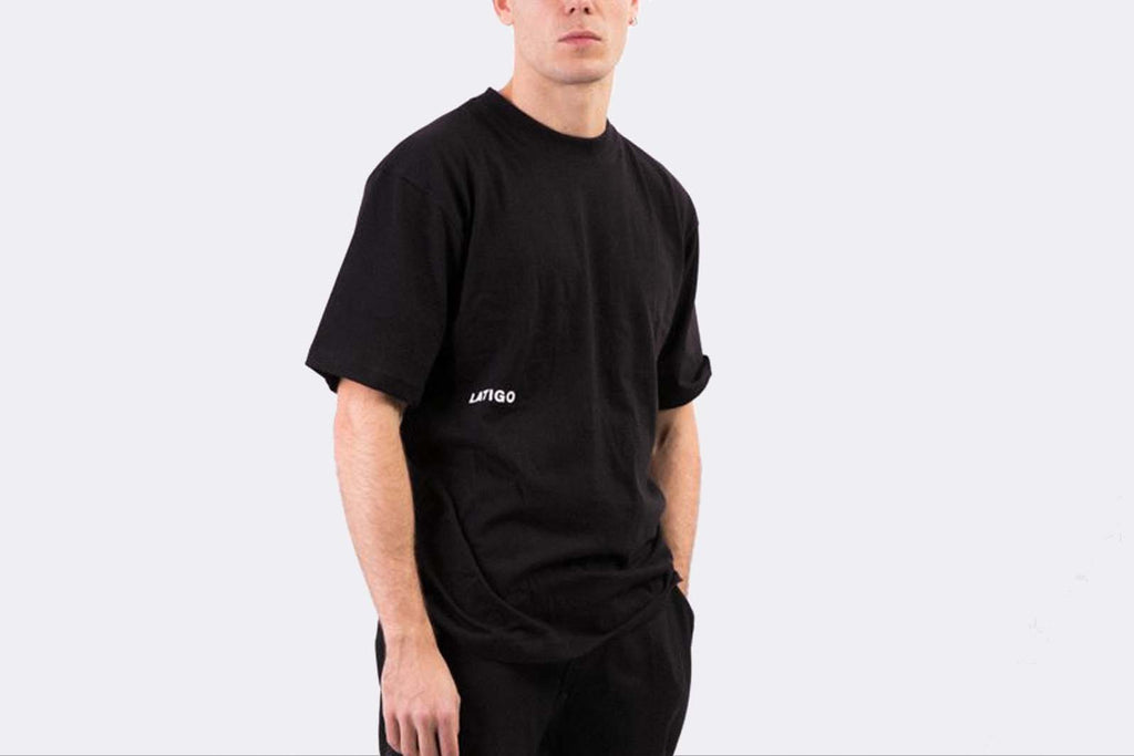 "Latigo ""Essential "" Black Tee"