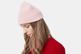 Colorful Merino Wool Beanie Faded Pink