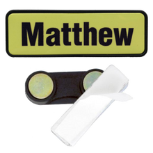Load image into Gallery viewer, Name Badge 19 x 64 Magnet Back - Clever Fridge Magnets