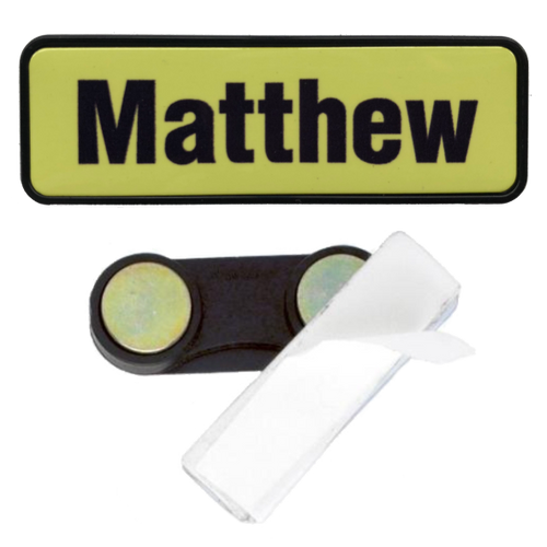 Name Badge 19 x 64 Magnet Back - Clever Fridge Magnets