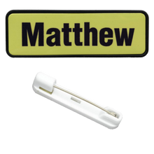 Load image into Gallery viewer, Name Badge 19 x 64 Pin Back - Clever Fridge Magnets